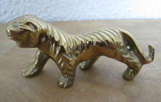 Alte Massive Bronze Messing Figur Skulptur Tiger Sehr Schwer Setzkasten Vitrine Bild
