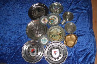 Zinn,  Konvolut,  Zinnsammlung,  11zinnteller,  1becher,  1schale,  Ca 4kg Bild