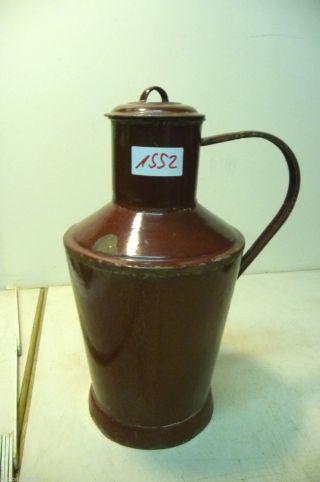 Nr.  1552.  Alte Kanne Emaille Kanne Wasserkanne Old Enamel Pot Bild