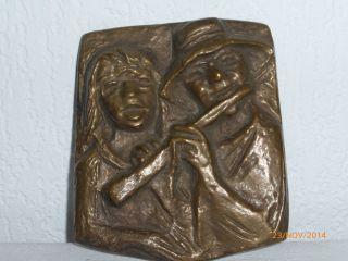 Bronze Relief,  Bronzebild