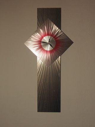 Metall Aluminium Designer Wanduhr Wall Art Wohnraumuhren Unikat Bild