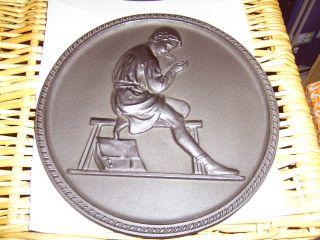 Shw Relief Gusseisen 1 St.  Römische Schüler Bzw.  Knaben Antik Kunstguss Platte Bild