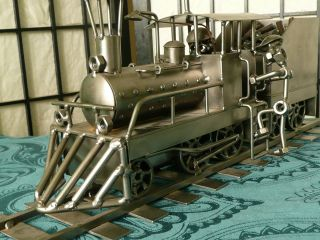 Lokomotive Eisenbahn Schmiedeisenkunst,  Moderne Kunst Bild