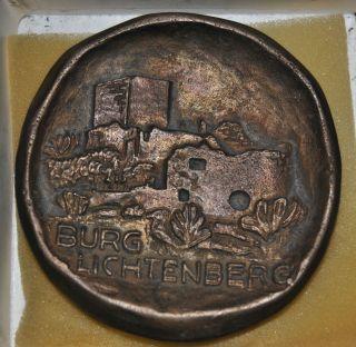Sammlerobjekt Kupfer - Messing Großer Taler Andenken Burg Lichtenberg Fundus Alt Bild