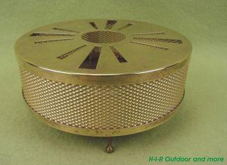 Seltenes Wunderhübsches Massiv Messing Stövchen Teelicht Vintage 60er Jahre Bild