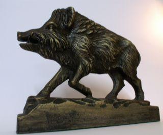 Bronze Statue Figur Skulptur Bronzefigur Wildschwein Keiler Bronzefiguren Bild