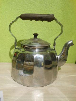 Wasserkessel Teekessel Rein Kupfer Bakelit Griff Mit Stempel Njss 20er 30er J, Bild