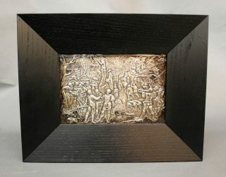 Relief Heraldische Kriegsszene Mit Vielen Personen - Versilbert (it) 19.  Jh. Bild