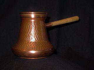 Vintage 50 - 60 - 70er Kupfer Kanne Wasserkocher Kochtopf Gefäß Topf Russlad Udssr Bild