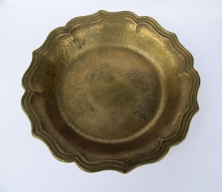 Große Messingschale Schale Messing Schale Schüssel Antik Ø 25,  5cm / 850g Bild