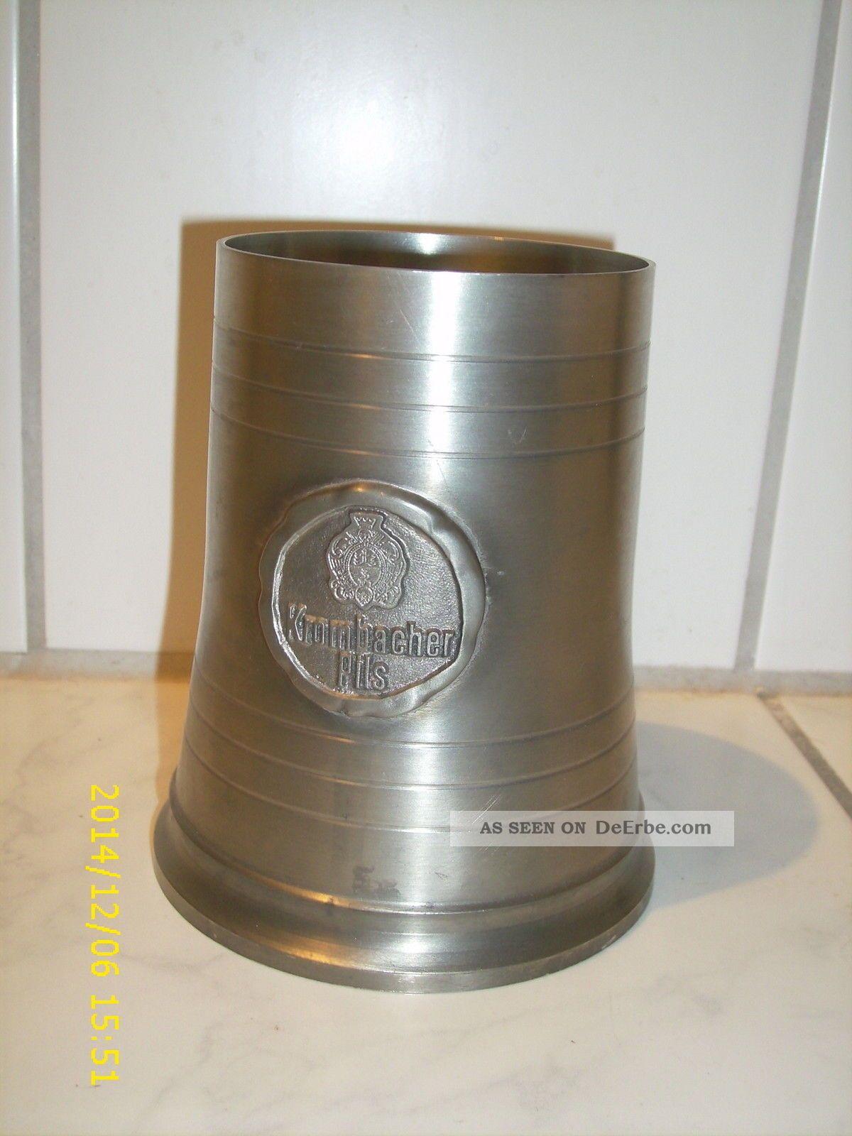 Zinnkrug Krombacher Pils,  14 Cm Hoch Gefertigt nach 1945 Bild