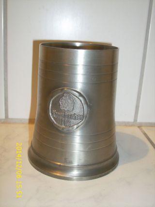 Zinnkrug Krombacher Pils,  14 Cm Hoch Bild