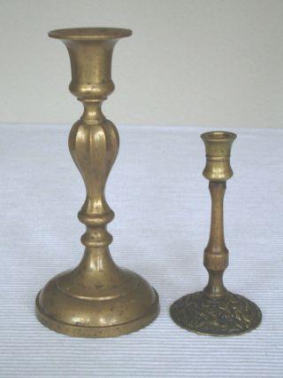 Jugendstil Kerzenleuchter (2) Dekoration Kerzenständer Ca.  1890 Wohnaccessoires Bild