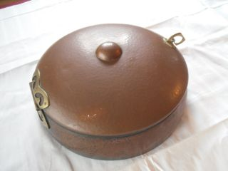 Kupfer Brotkasten Brotdose Brottopf Gehämmert Nürnberg Antik Bild