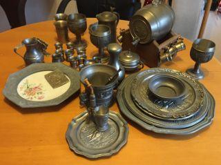 Zinn Zinnsammlung Zinnschrott 17 Kilo Plus 20 Gramm 925 Silberanhänger Bild