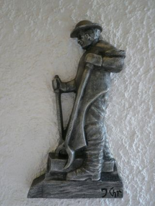 Gussbild,  Gussplatte,  Hüttenmann,  Stahlwerker,  Walzwerker Bild