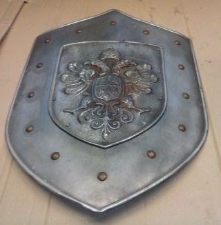 Altes Ritter Schutz Schild Eisen Bild
