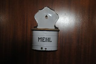 Emaillie Metallbehälter Dose Mehl