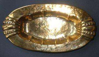 Schöne Verzierte Obstschale,  Ca 1900,  Sieht Wie Gold Aus (messing? Bronze?) Bild