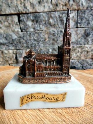 Reiseandenken Aus Frankreich Strasbourg Dom,  Figur,  Kirche,  Andenken Bild