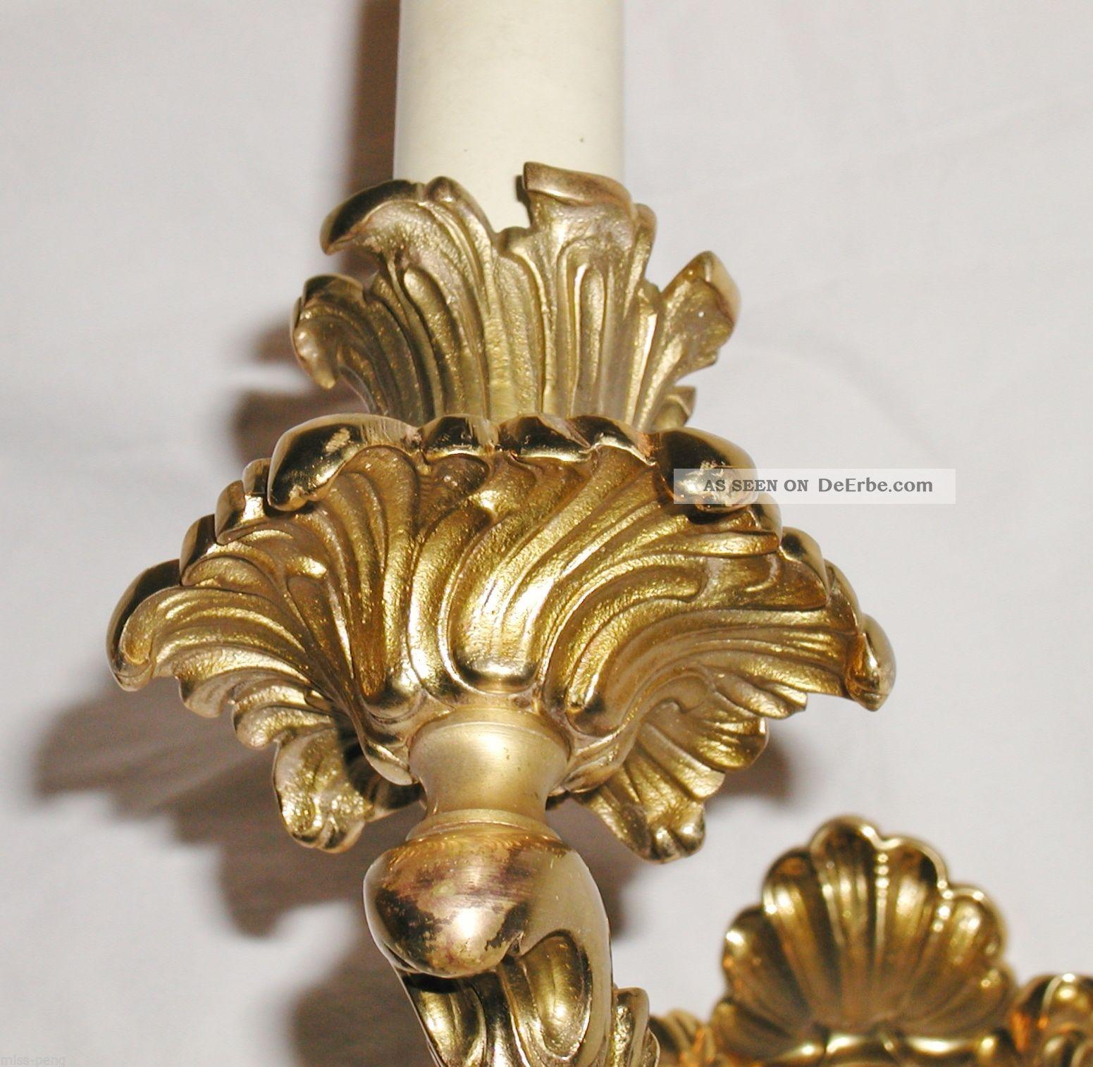Deckenlampe Aus Holz Cool Messing Bronze Lampe Leuchter: Antike Barock Wandlampe Wandleuchter Leuchter Gold Messing