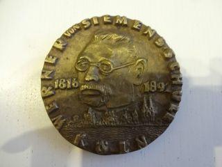 Sehr Schöne Bronze Medaille Relief Werner Von Siemens Von Egino Weinert Bild