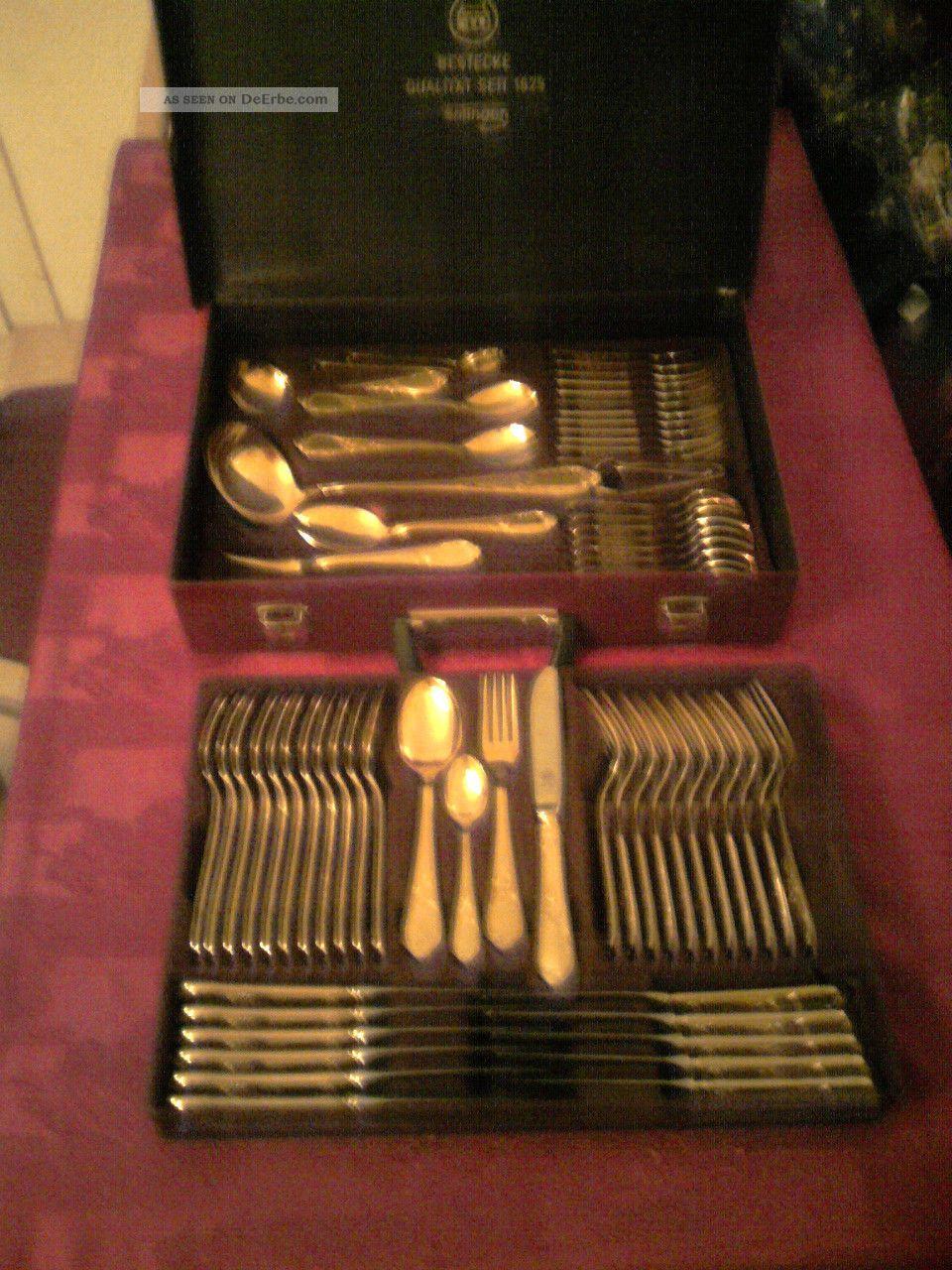 12 personen goldbesteck aus solingen 70 teile im koffer gold tafel besteck. Black Bedroom Furniture Sets. Home Design Ideas