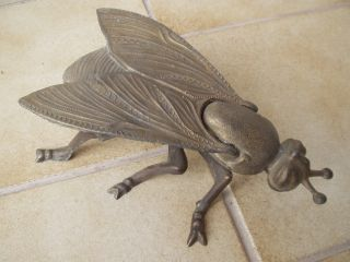 Antike Originale Fliege/wespe/biene Aus Metall/messing Und Unbeschädigt Bild