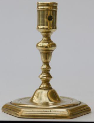 Antiker Kerzenleuchter Leuchter Bronze 18.  Jhd.  Barockleuchter Candlestick Bild