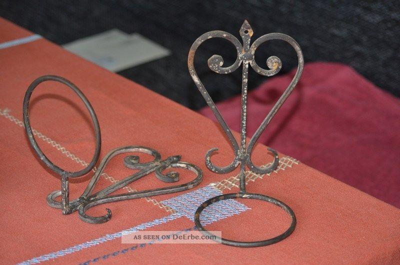 zwei 2 blumentopfhalter f r die wand dekoration rost vintage. Black Bedroom Furniture Sets. Home Design Ideas