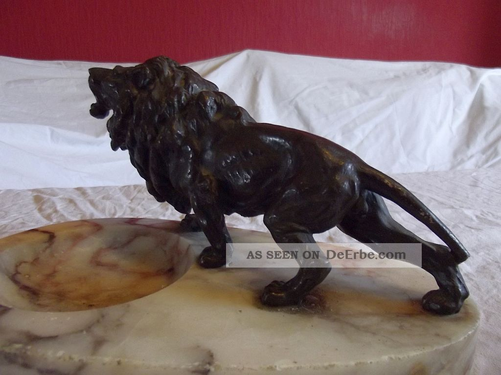 Antiquitäten & Kunst Metallobjekte Figur Löwe Bronze