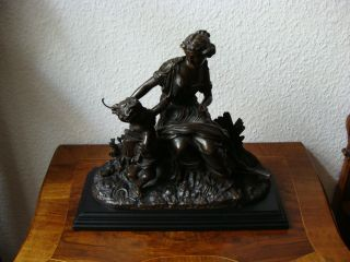 Bronse Allegorie - Herbst Ernte - Göttin Karpo Xarpo / Ceres,  Historismus Barock Bild