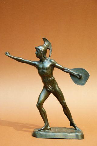 Alte Bronze (?) Skulptur - Römischer Krieger - Gladiator Bild