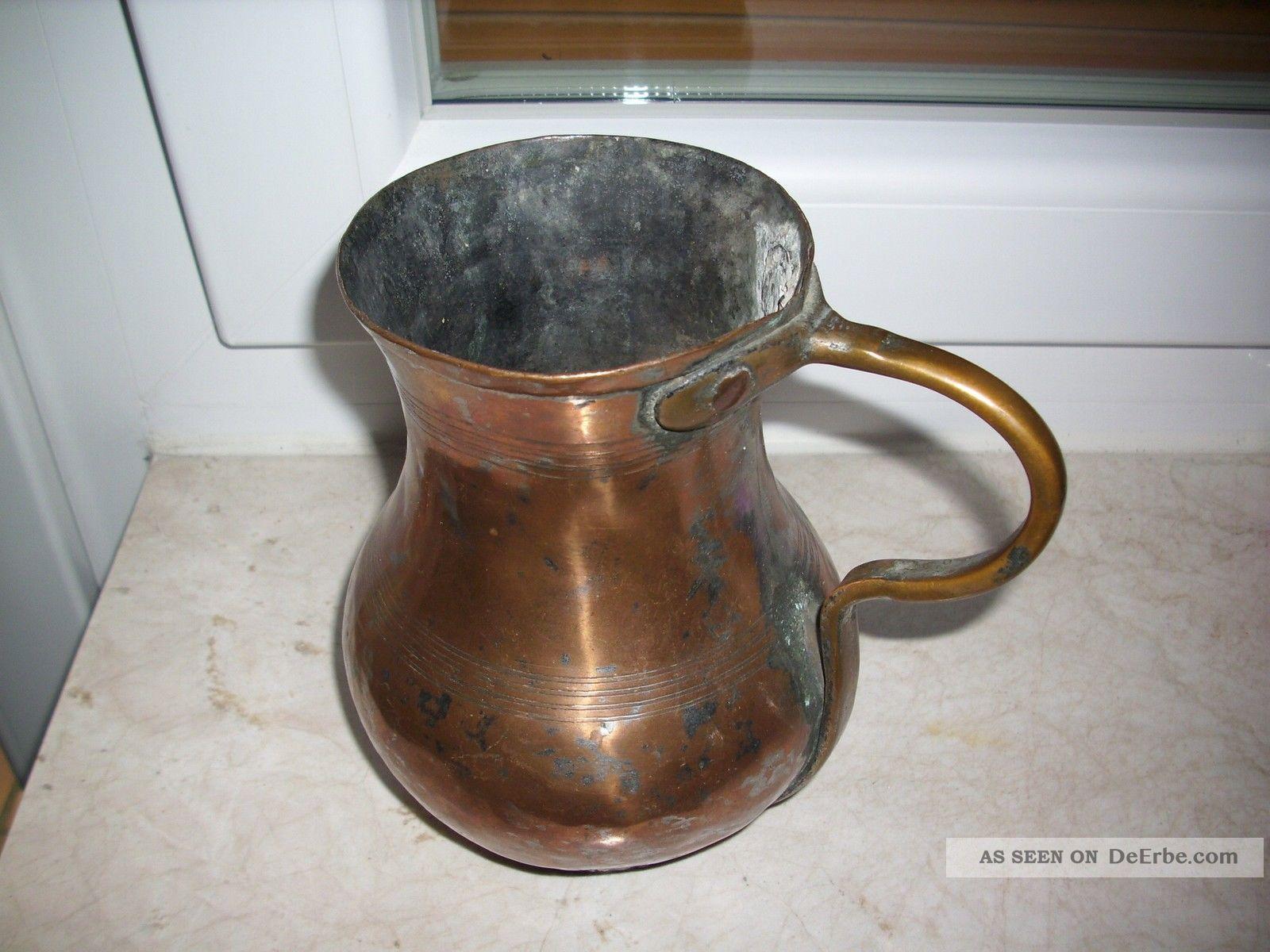 alter krug kupfer kanne topf vase alt deko dekoration nostalgie larp