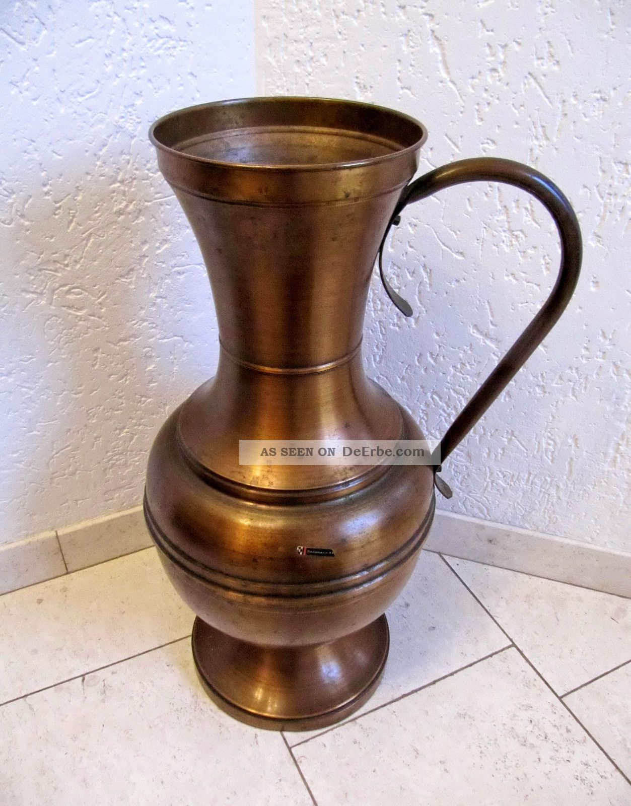 dahlmann kupferkanne henkelkanne kanne vase bodenvase 60cm. Black Bedroom Furniture Sets. Home Design Ideas