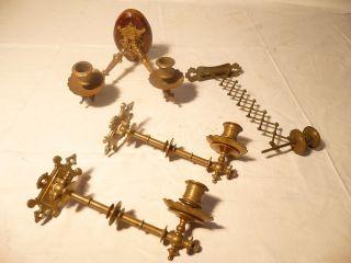 Vier Klavierleuchter Kerzenleuchter Wandleuchter Leuchter Bronze Messing Bild