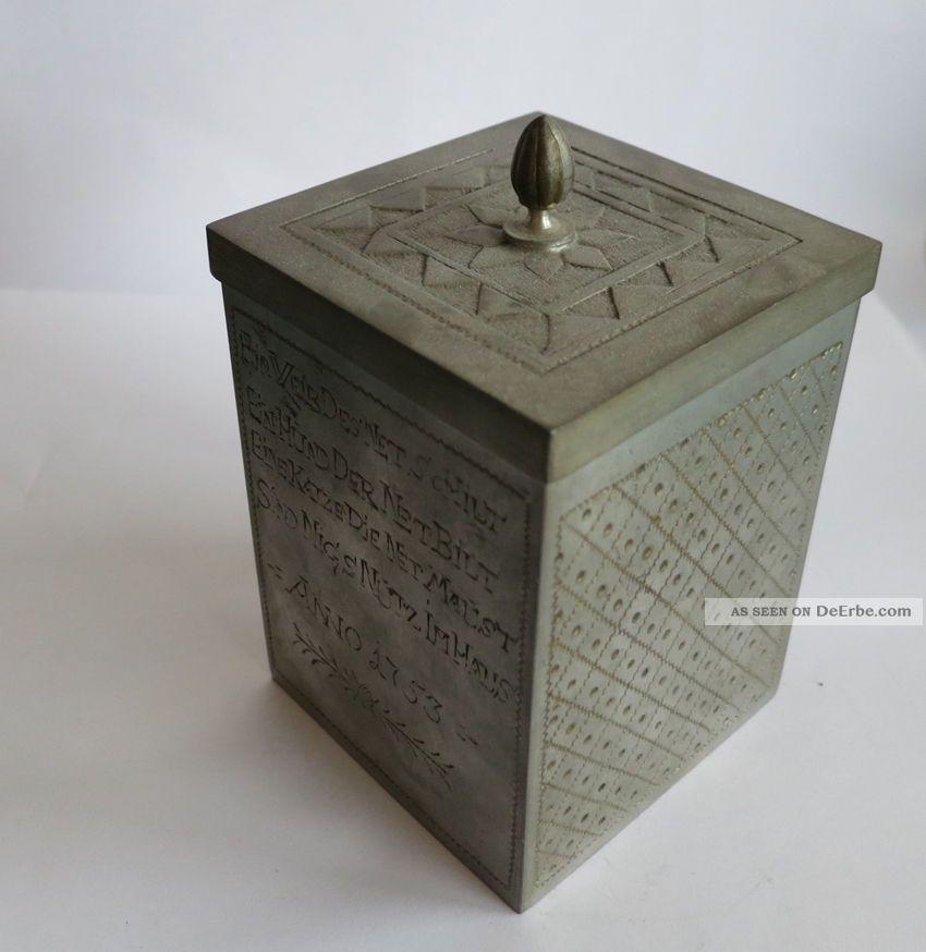 Gartenmobel Holz Metall Gunstig :  Zinngefäss Zinn Hersteller Siehe Stempel Ein Weib Des Net Schilt 1753