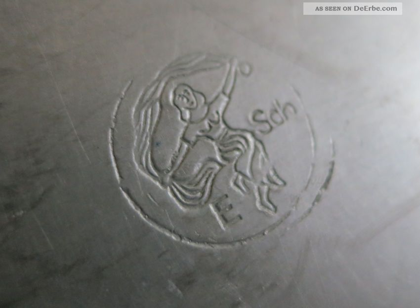 Gartenmobel Holz Metall Gunstig :  Zinn Hersteller Siehe Stempel Ein Weib Des Net Schilt 1753 Zinn Bild 1