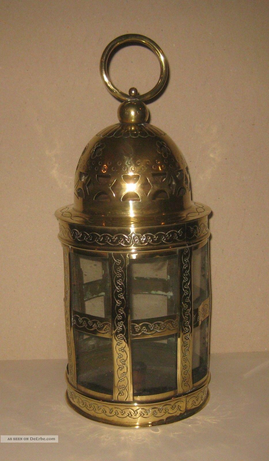 laterne mitte ende 19 j messing lampe nachtw chterlaterne. Black Bedroom Furniture Sets. Home Design Ideas