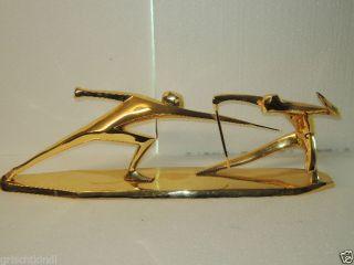 Grosse Vergoldete Bronzefigur