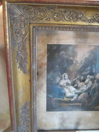 Klassizismus Gemälde - Rahmen Um 1800,  Gratleisten,  Holz,  Stuckmasseverziert Bild