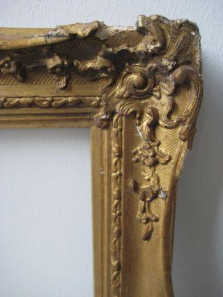 Rokoko Gemälde - Rahmen 19.  Jh.  Holz,  Stuckmasseverziert,  Orig.  Polymentvergoldu Bild