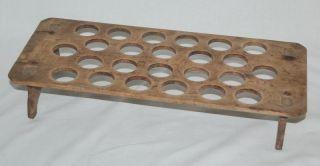 Eier - Regal Um 1900 - Massivholz - Für 2 Dutzend (24 Stück) - Holzregal Bild
