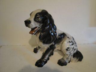 Grosser Keramikhund,  Cocker Spaniel,  Gloriette Keramik,  Ansehen Bild