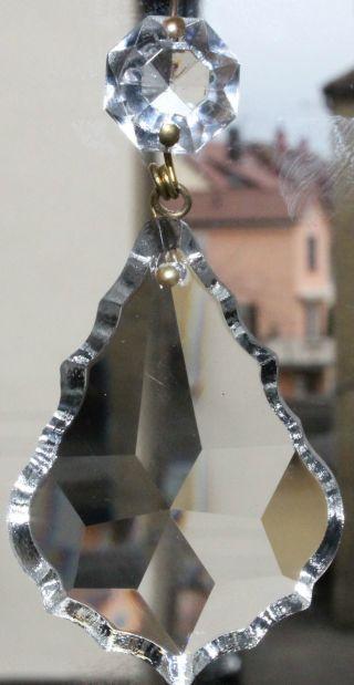 30 Große Venezianische Jugendstil Pendeln Blei Kristalle Lüster Kronleuchter Rar Bild