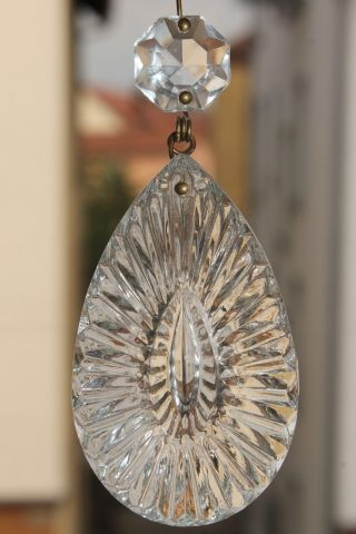 30 X Seltene Antike Franz Jugendstil Pendeln Blei Kristalle Lüster Kronleuchter Bild