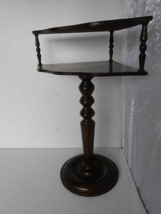 Sehr Schöner,  Antiker Gründerzeit Tisch Ecktisch Gedrechselt Unrestauriert 1890 Bild