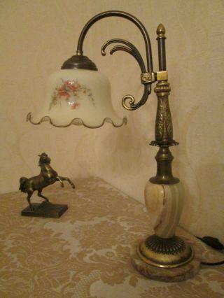 Wunderschöne Jugendstil - Tischlampe Aus Privater Sammlung Bild