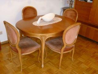 Esszimmergarnitur Speisezimmer Chippendale - Stil,  Tisch Ausziehbar Und 4 Stühle Bild