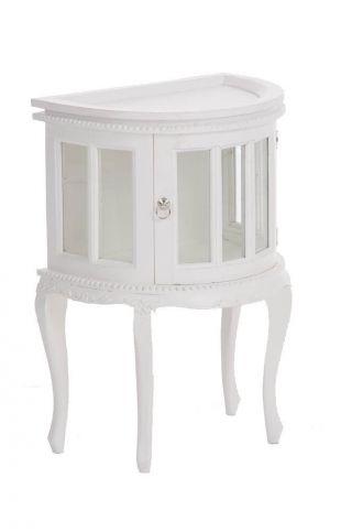 Teetisch Für Die Wand,  Weiß Mahagoni Beistelltisch Teeschrank Vitrine Tisch Bild